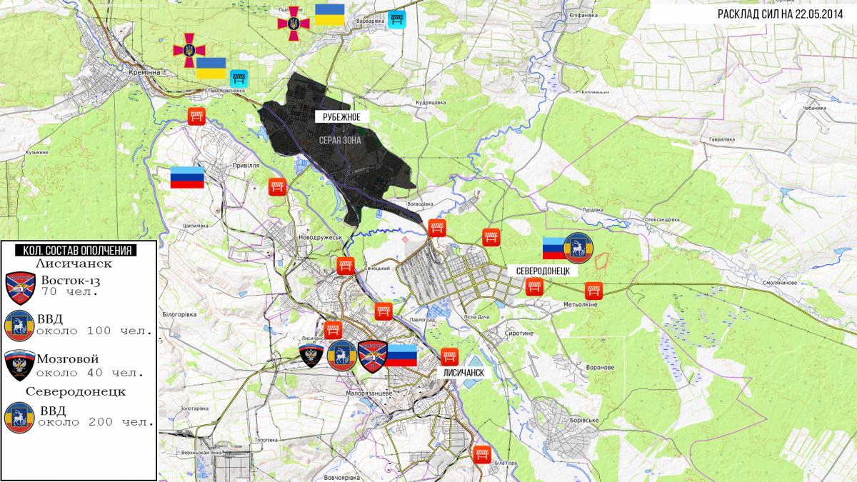 Бой 22 мая 2014 года в Рубежном
